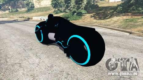 GTA 5 Tron Bike blue arrière vue latérale gauche