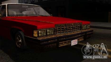 GTA 5 Albany Emperor Worn IVF pour GTA San Andreas vue arrière