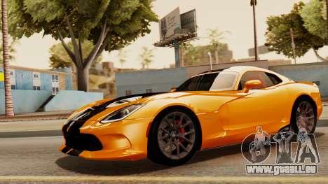 Dodge Viper SRT GTS 2013 IVF (HQ PJ) No Dirt pour GTA San Andreas