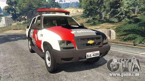 Chevrolet Blazer Sao Paulo State Police pour GTA 5