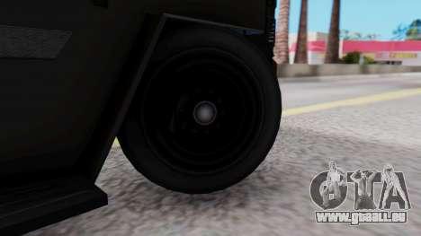 GTA 5 Enforcer Raccoon City Police Type 1 pour GTA San Andreas sur la vue arrière gauche