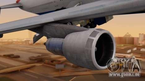 Boeing 747-200 British Airways pour GTA San Andreas vue arrière
