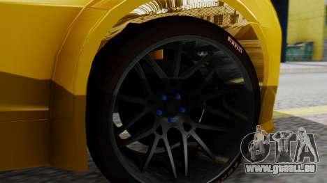Chevrolet Camaro GT für GTA San Andreas zurück linke Ansicht
