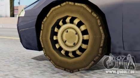 Mitsubishi Eclipse GSX SA Style pour GTA San Andreas sur la vue arrière gauche