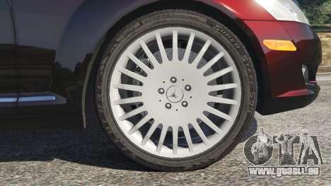 GTA 5 Mercedes-Benz S500 W221 v0.4 [Alpha] arrière droit vue de côté