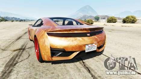 GTA 5 Dinka Jester (Racecar) Chocolate hinten links Seitenansicht