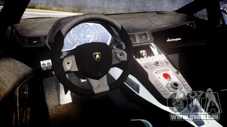 Lamborghini Aventador Roadster pour GTA 4 est une vue de l'intérieur