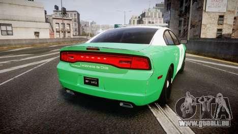 Dodge Charger Carabineros de Chile [ELS] für GTA 4 hinten links Ansicht