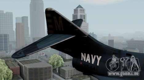 Grumman F9F-5 Phanter pour GTA San Andreas sur la vue arrière gauche