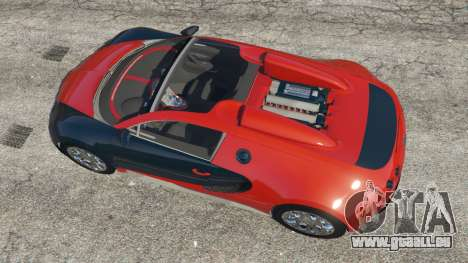 GTA 5 Bugatti Veyron Grand Sport v3.3 vue arrière