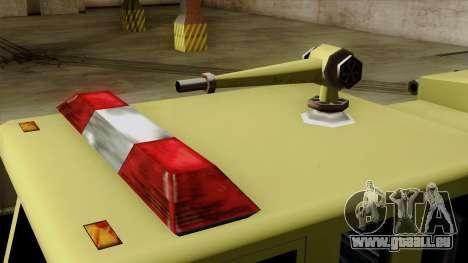 SAFD SAX Airport Engine für GTA San Andreas Rückansicht