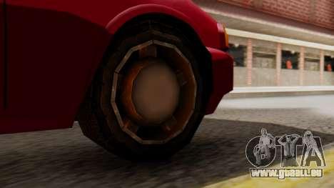 GTA 3 Kuruma SA Style pour GTA San Andreas sur la vue arrière gauche