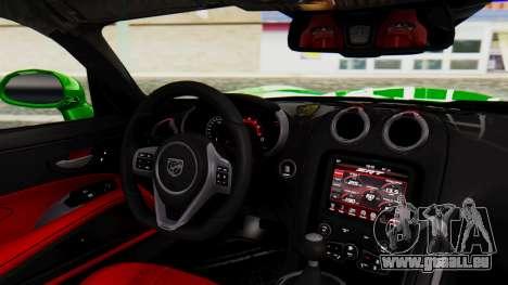 Dodge Viper SRT GTS 2013 IVF (MQ PJ) No Dirt für GTA San Andreas rechten Ansicht