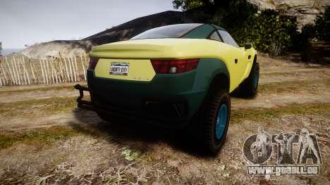 GTA V Coil Brawler pour GTA 4 Vue arrière de la gauche