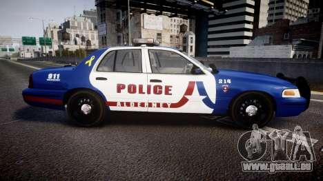Ford Crown Victoria Alderney Police [ELS] pour GTA 4 est une gauche