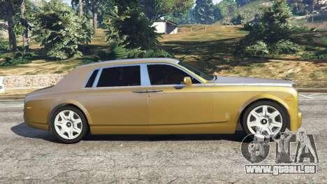 GTA 5 Rolls-Royce Phantom EWB v0.6 [Beta] vue latérale gauche