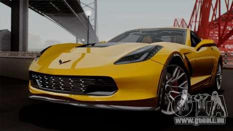 Chevrolet Corvette Z06 1.0.1 pour GTA San Andreas vue de côté