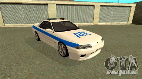 Nissan Skyline R32 Russian Police pour GTA San Andreas laissé vue