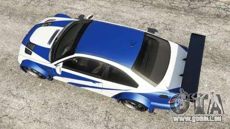 GTA 5 BMW M3 GTR E46 Most Wanted vue arrière