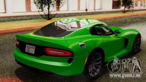 Dodge Viper SRT GTS 2013 IVF (MQ PJ) No Dirt für GTA San Andreas linke Ansicht