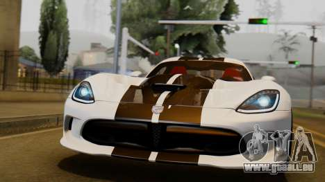 Dodge Viper SRT GTS 2013 IVF (HQ PJ) LQ Dirt für GTA San Andreas