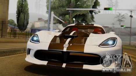 Dodge Viper SRT GTS 2013 IVF (HQ PJ) LQ Dirt für GTA San Andreas