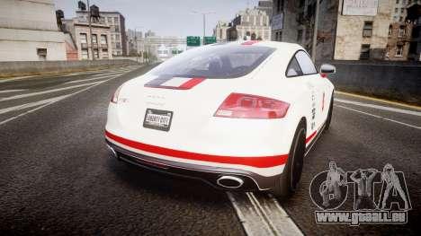 Audi TT RS 2010 Shelley pour GTA 4 Vue arrière de la gauche