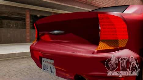 GTA 3 Kuruma SA Style pour GTA San Andreas vue de droite