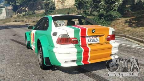 GTA 5 BMW M3 GTR E46 PJ3 hinten links Seitenansicht