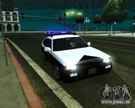 Japanese Police Car Blista pour GTA San Andreas vue de droite
