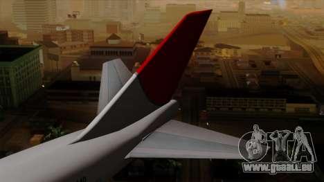 Boeing 747 JAL pour GTA San Andreas sur la vue arrière gauche