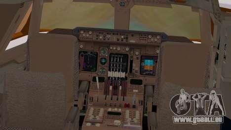 Boeing 747-200 British Airways pour GTA San Andreas vue intérieure