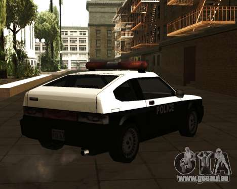 Japanese Police Car Blista für GTA San Andreas linke Ansicht