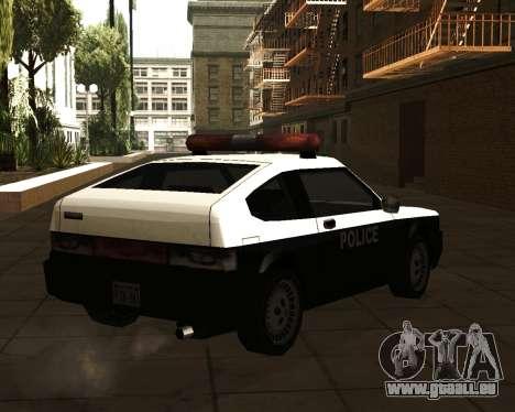 Japanese Police Car Blista pour GTA San Andreas laissé vue