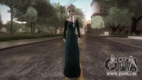 Elsa Frozen HQ Dress pour GTA San Andreas deuxième écran