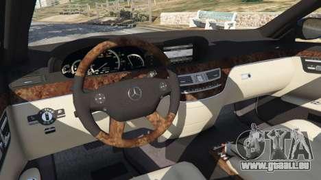 GTA 5 Mercedes-Benz S500 W221 v0.4 [Alpha] droite vue latérale