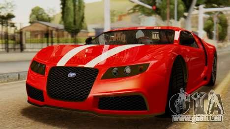 GTA 5 Adder Secondary Color Tire Dirt pour GTA San Andreas sur la vue arrière gauche