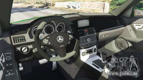 GTA 5 Mercedes-Benz C63 (W204) AMG rechte Seitenansicht