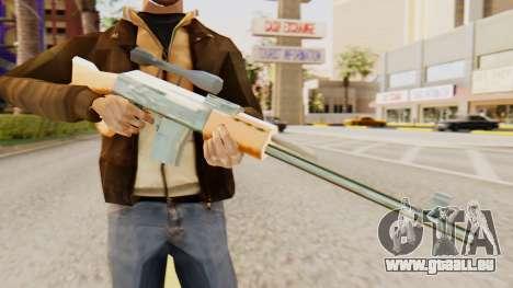 Zastava M76 pour GTA San Andreas troisième écran