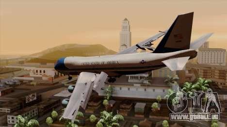 Boeing 747 Air Force One für GTA San Andreas linke Ansicht