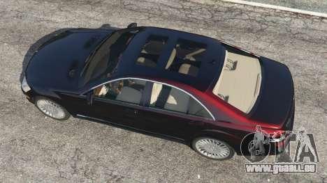 GTA 5 Mercedes-Benz S500 W221 v0.4 [Alpha] vue arrière