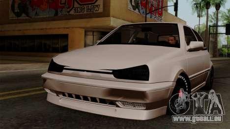 Volkswagen Golf 3 Shine pour GTA San Andreas