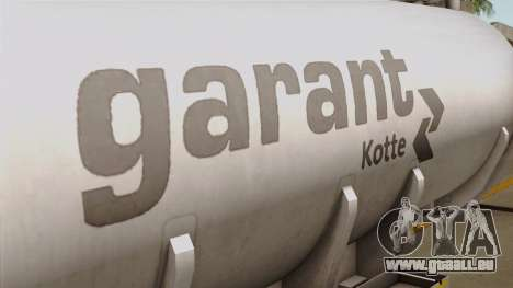 Trailer Kotte Garant für GTA San Andreas Rückansicht