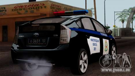 Toyota Prius ДПС für GTA San Andreas linke Ansicht