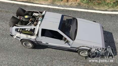 GTA 5 DeLorean DMC-12 Back To The Future v0.2 vue arrière