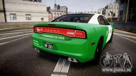 Dodge Charger Carabineros de Chile [ELS] v2.0 für GTA 4 hinten links Ansicht