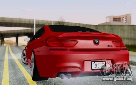 BMW M6 2013 v1.0 pour GTA San Andreas laissé vue