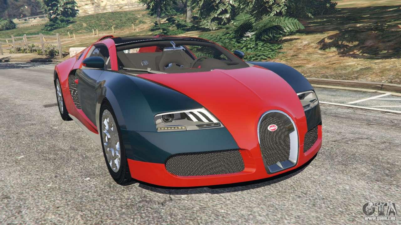bugatti veyron grand sport v3 3 pour gta 5. Black Bedroom Furniture Sets. Home Design Ideas