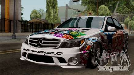 Mercedes-Benz C63 AMG Momoka and Nonoka Itasha pour GTA San Andreas