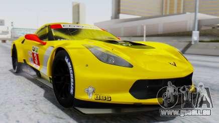 Chevrolet Corvette C7R GTE 2014 PJ1 pour GTA San Andreas